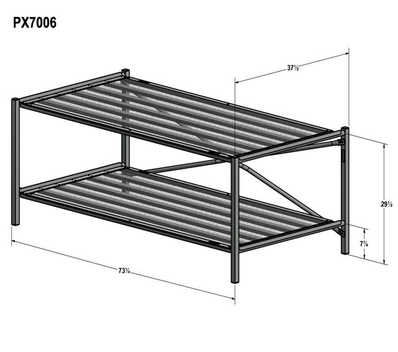 2-tier display system