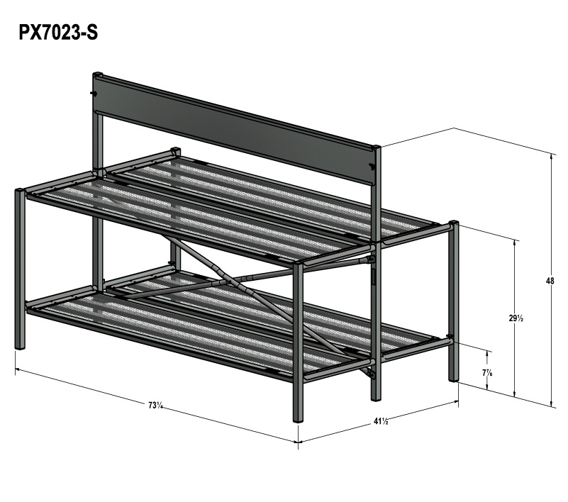 double bench display system