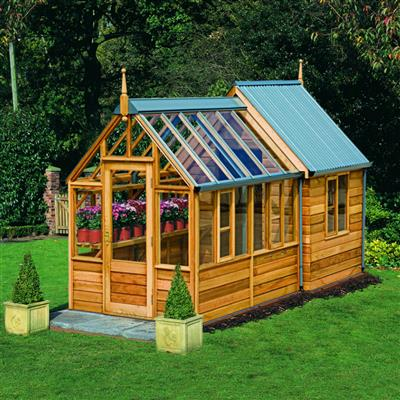 Rosemoore Combi Greenhouse Shed