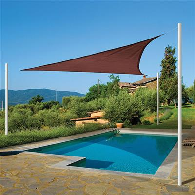 Sun Shade Sail Triangle Terracotta